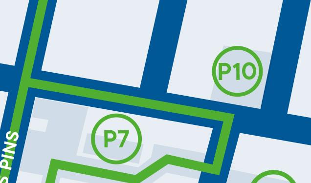 Centre-ville de Magog - Stationnement P10 : Desjardins