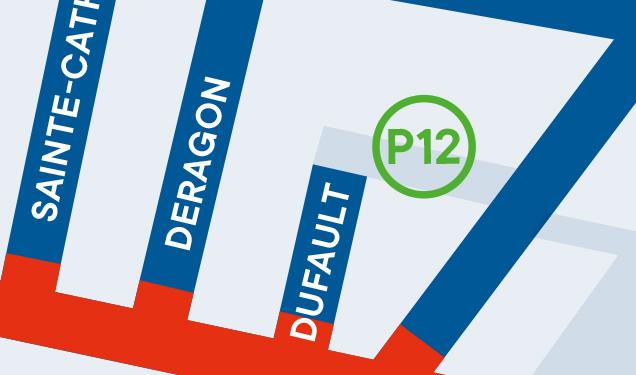 Centre-ville de Magog - Stationnement P12 : Dufault