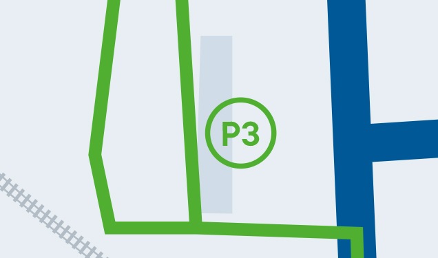 Centre-ville de Magog - Stationnement P3 : Du Moulin